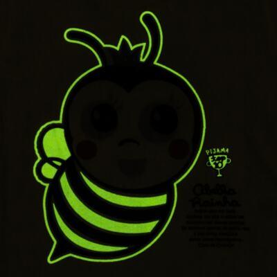 Imagem 5 do produto Pijama curto que Brilha no Escuro Little Bee - Cara de Criança - U2278 ABELHA PIJAMA-CURTO M/MALHA -4