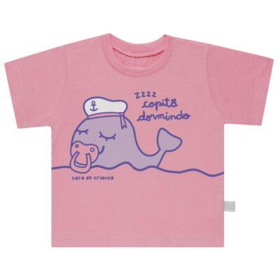 Imagem 2 do produto Pijama curto que Brilha no Escuro Miss Captain - Cara de Criança - BC1942 BALEINHA BC PJ-BB CURTA C/CALCA M/MALHA-M