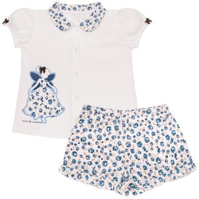 Imagem 1 do produto Pijama curto com abertura Fada - Cara de Criança - AB0881 PIJAMA CURTO COM ABERTURA FADA-3