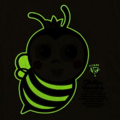 Imagem 5 do produto Pijama curto que Brilha no Escuro Little Bee - Cara de Criança - U2278 ABELHA PIJAMA-CURTO M/MALHA -3