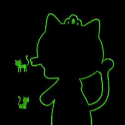Imagem 4 do produto Pijama curto em malha que Brilha no Escuro Gata Bombaim - Cara de Criança - C2893 GATA BOMBAIM C PJ-MG CURTA C/CALCA M/MALHA-2