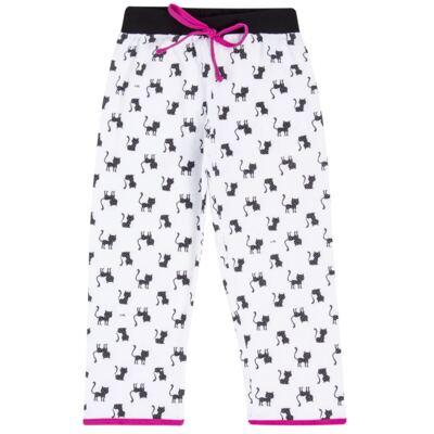 Imagem 5 do produto Pijama curto em malha que Brilha no Escuro Gata Bombaim - Cara de Criança - C2893 GATA BOMBAIM C PJ-MG CURTA C/CALCA M/MALHA-3