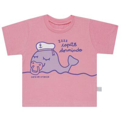 Imagem 2 do produto Pijama curto que Brilha no Escuro Miss Captain - Cara de Criança - BC1942 BALEINHA BC PJ-BB CURTA C/CALCA M/MALHA-P