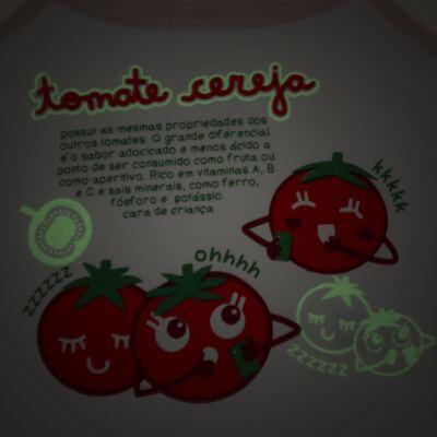 Imagem 3 do produto Pijama Regata que Brilha no Escuro Tomatinho Cereja - Cara de Criança - R2277 TOMATE CEREJA R PJ REGATA COTTON -3