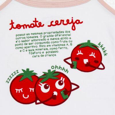 Imagem 4 do produto Pijama Regata que Brilha no Escuro Tomatinho Cereja - Cara de Criança - R2277 TOMATE CEREJA R PJ REGATA COTTON -4
