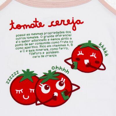 Imagem 4 do produto Pijama Regata que Brilha no Escuro Tomatinho Cereja - Cara de Criança - R2277 TOMATE CEREJA R PJ REGATA COTTON -1