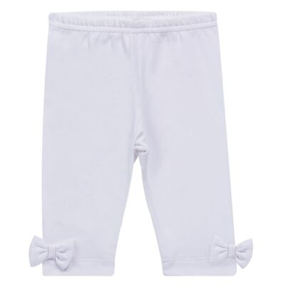Imagem 1 do produto Legging para bebe em cotton Branca - Tilly Baby - TB168013.01 LEGGING FEMININA BRANCA-3