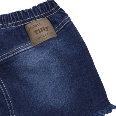 Imagem 2 do produto Shorts para bebê jeans Destroyed - Tilly Baby - TB168000 SHORT JEANS FEMININO-G