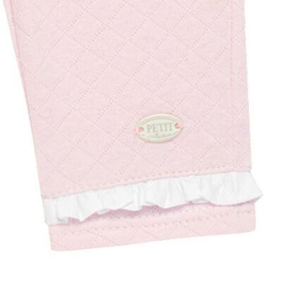 Imagem 3 do produto Calça para bebe em viscomfort matelassê Rose - Petit - 41134344 CALÇA C/ BABADO MATELASSE OVELHA FEM -P