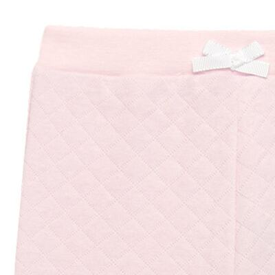 Imagem 2 do produto Calça para bebe em viscomfort matelassê Rose - Petit - 41134344 CALÇA C/ BABADO MATELASSE OVELHA FEM -GG
