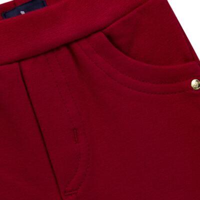 Imagem 2 do produto Calça para bebe em molicotton Vermelha - Mini Sailor - 41634263 CALÇA C/ BOLSO MOLICOTTON VERMELHO-2
