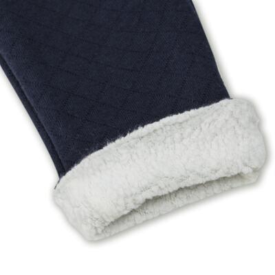 Imagem 3 do produto Calça para bebe Matelassê & Pelúcia Marinho - Mini Sailor - 41644262 CALÇA FORRADA BOLSO E VIVO MATELASSE MARINHO -3