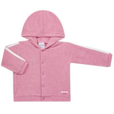 Imagem 2 do produto Casaco c/ capuz e Calça para bebe em soft Rosa - Tilly Baby - TB0172020.10 CONJ. CASACO COM CALÇA SOFT ROSA-3
