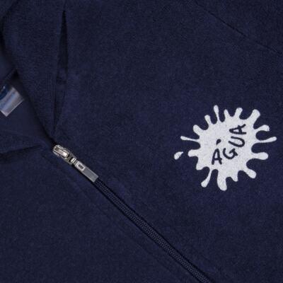 Imagem 2 do produto Roupão atoalhado com capuz marinho - Cara de Criança - RO2157 ROUPAO MARINHO ATOALHADO-2
