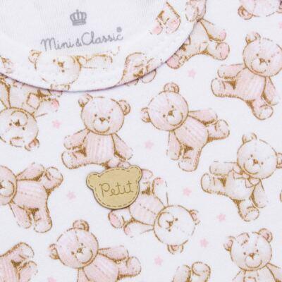 Imagem 3 do produto Regata com Cobre fralda para bebe em algodão egípcio c/ jato de cerâmica Princess Bear - Mini & Classic - CJRR655 REGATA C/ COBRE FRALDAS SUEDINE URSA-P