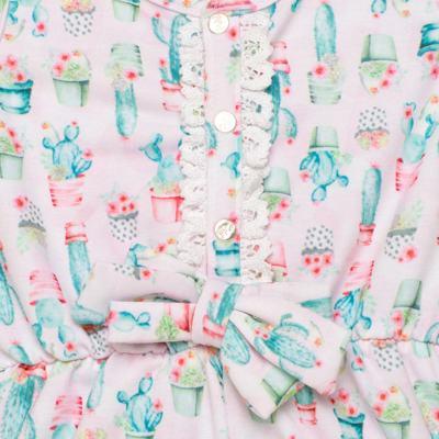 Imagem 2 do produto Macaquinho regata para bebe em viscomfort Cactus Flower - Petit - 30744300 MACAQUINHO REGATA VISCOM. LOVE CACTUS -G