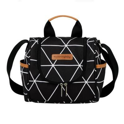 Imagem 5 do produto Mala maternidade Vintage + Bolsa Everyday + Frasqueira térmica Emy + Mochila Noah + Necessaire Manhattan Preta - Masterbag