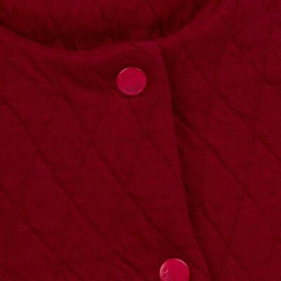 Imagem 2 do produto Casaco em moletom matelassê Vermelho - Bibe