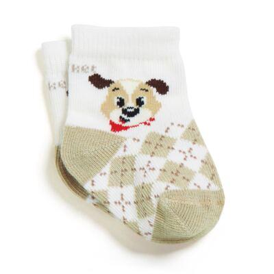Imagem 1 do produto Meia Soquete recém-nascido off white Cachorrinho - Puket