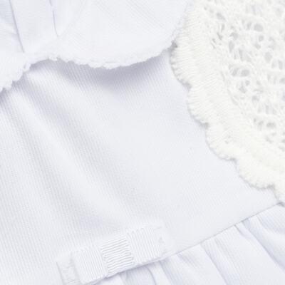 Imagem 2 do produto Vestido c/ Bolero para bebe em fustão Branco - Mini & Classic - 1425659 VESTIDO COM BOLERO TRICOLINE/BRANCO-P