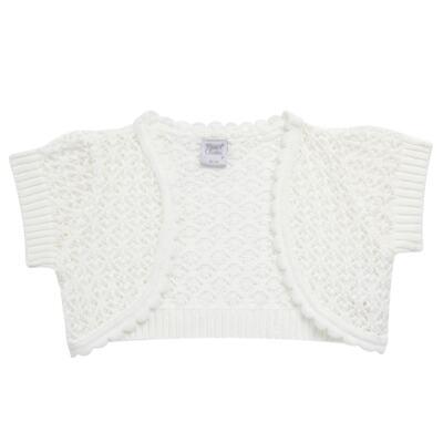 Imagem 4 do produto Vestido c/ Bolero para bebe em fustão Branco - Mini & Classic - 1425659 VESTIDO COM BOLERO TRICOLINE/BRANCO-P