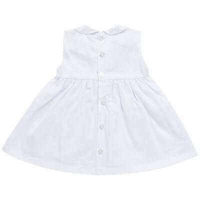 Imagem 6 do produto Vestido c/ Bolero para bebe em fustão Branco - Mini & Classic - 1425659 VESTIDO COM BOLERO TRICOLINE/BRANCO-P
