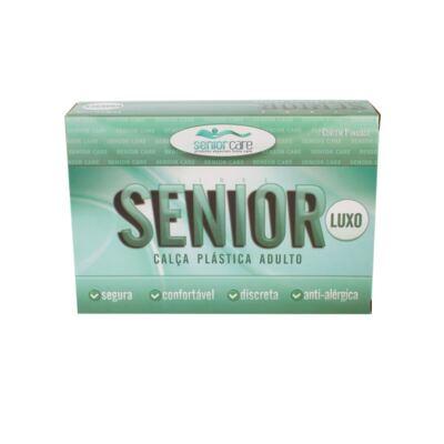 Imagem 1 do produto Calça Plástica Bege Com Botão Luxo Senior Care - M