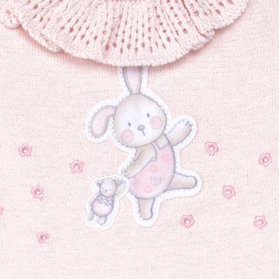 Imagem 2 do produto Macacão longo c/ golinha para bebe em tricot Lapine - Petit - 22334421 Macacão Fem c/ Babad na Gola Tricot Rosa-P
