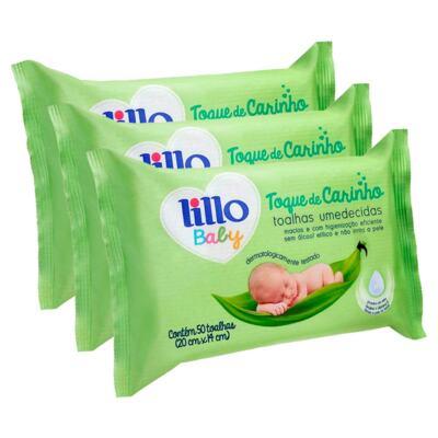 Imagem 1 do produto Kit Toalhas Umedecidas Lillo Baby 150 Unidades