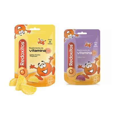 Imagem 1 do produto Redoxitos Uva Bayer 25 Unidades + Redoxitos Frutas Tropicais Bayer 25 Unidades