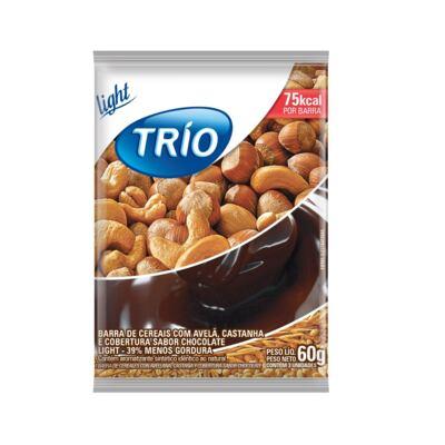 Imagem 1 do produto Barra de Cereais Trio Avelã e Castanha com Chocolate Light 3 Unidades de 20g