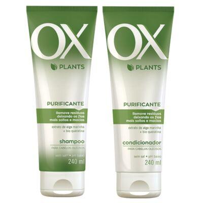 Imagem 1 do produto Kit OX Plants Purificante Shampoo 240ml + Condicionador 240ml