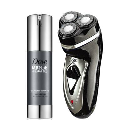 Imagem 1 do produto Kit Barbeador Elétrico Lizz Spirit Bivolt + Óleo Pré Barba Dove Men Care Softening 35ml