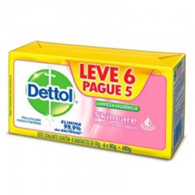 Imagem 1 do produto Sabonete Dettol Barra Skincare 6 Unidades