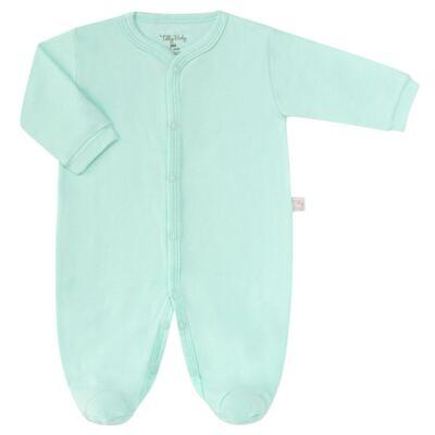 Imagem 1 do produto Macacão longo para bebe em suedine Mint - Tilly Baby - TB13113.11 MACACAO BASICO DE SUEDINE VERDE-RN