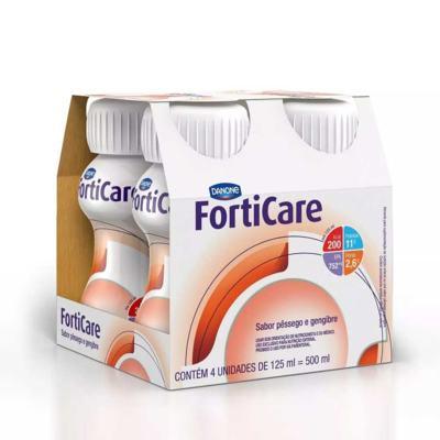 Imagem 1 do produto Kit Forticare Sabor Pêssego e Gengibre 4 Unidades de 125ml -