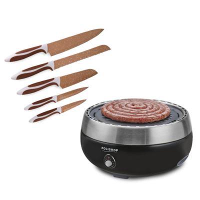Imagem 1 do produto Churrasqueira Steakhouse Grill Polishop + Conjunto De Facas Special Cut Flavorstone™ Cobre Color Edition