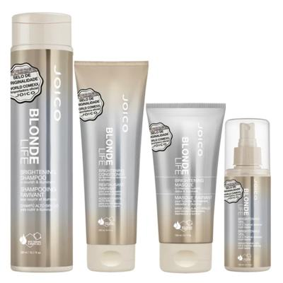 Joico Blonde Life Brightening Kit - Máscara + Leave-In + Condicionador + Shampoo - Kit