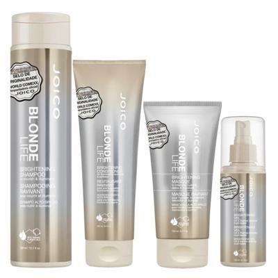 Joico Blonde Life Brightening Kit - Máscara + Leave-In + Condicionador + Shampoo - Kit