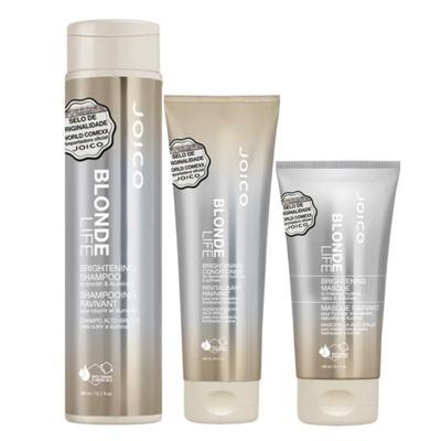 Joico Blonde Life Brightening Kit - Máscara + Condicionador + Shampoo - Kit