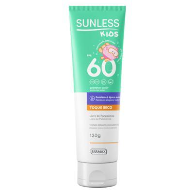 Protetor Solar Infantil Sunless Kids FPS 60 - 120g