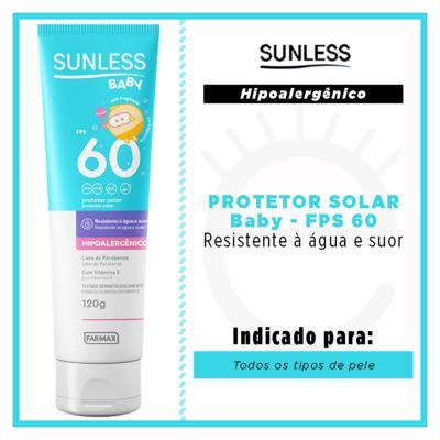 Imagem 2 do produto Protetor Solar FPS 60 Sunless - Baby - 120g