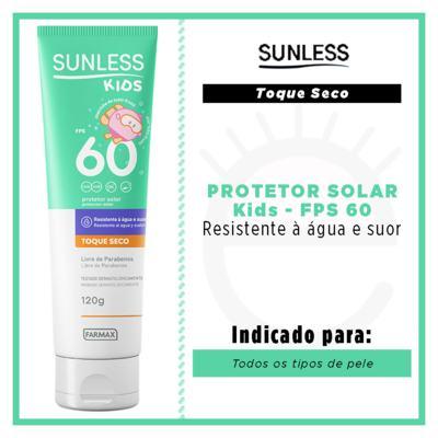 Imagem 2 do produto Protetor Solar Infantil Sunless Kids FPS 60 - 120g
