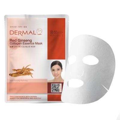 Máscara Facial Revigorante Dermal - Colágeno com Ginseng Vermelho - 23g