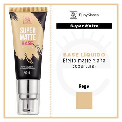 Imagem 4 do produto Base Líquida RK by Kiss - Super Matte - Bege