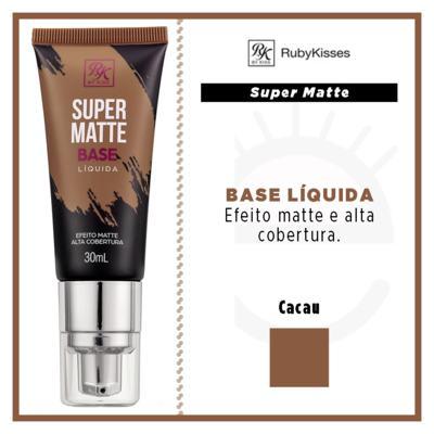 Imagem 4 do produto Base Líquida RK by Kiss - Super Matte - Cacau