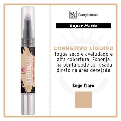 Imagem 4 do produto RK by Kiss Corretivo Líquido Super Matte - Bege Claro