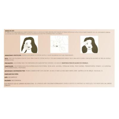 Imagem 2 do produto Adesivo para Rosto Océane - Shine Dots Rosé - 1 Un