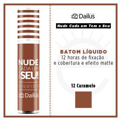 Imagem 4 do produto Batom Líquido Nude Dailus Color - 12 Caramelo