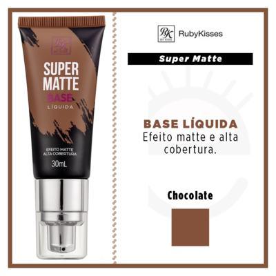 Imagem 4 do produto Base Líquida RK by Kiss - Super Matte - Chocolate